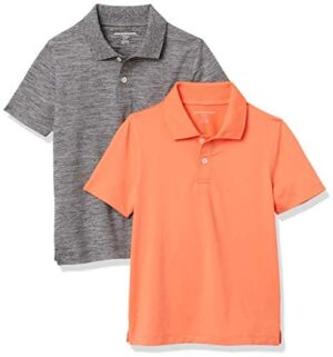 Amazon Essentials Boys' Active Performance Polo Shirts