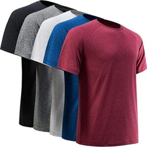BALENNZ Workout Shirts for Men, Moisture Wicking Quick Dry Active Athletic Men's Gym Performance T Shirts