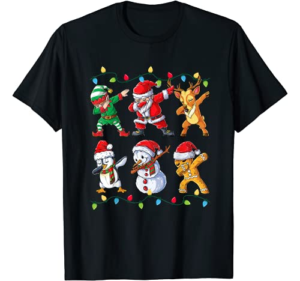 Dabbing Santa Elf Friends Christmas Kids Boys Men Xmas Gifts T-Shirt