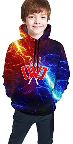 Muindancer Cartoon Youth Hoodies Sweater Hoody Fashion Pullover Sweater for Boys/Girls