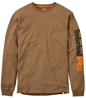 Timberland PRO Men's Base Plate Blended Long-Sleeve T-Shirt with Logo