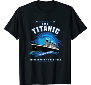 """White Star Line RMS Titanic """"The Ship of Dreams"""" Kids Gift T-Shirt"""
