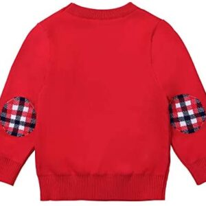 ReliBeauty Kids Ugly Christmas Sweater Boys Girls Elk and Snowflakes Xmas Party Pullover Sweatshirt