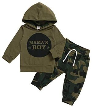 Baby Brother Sister Matching Outfits Newborn Boy Girl T-Shirt Hoodie+Camo Pants Clothing Set