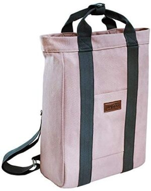 Dejaroo Canvas Travel Laptop Backpack for Women, Men or Kids - Everyday Bag for Professionals, Commuters, School or College fits 15 inch Laptop - Cute Work Bags for Women - Vintage Backpack (Rose)