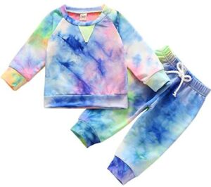 HZYKOK Baby Clothes Toddler Pajamas Boys Girls Sweatshirt Outfit Winter Spring Jogger
