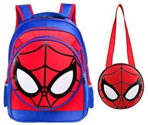 Kids Backpack Children Primary School Bag Waterproof Comic Backpack for Boys with Lunch Box