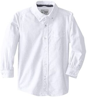 The Children's Place Boys' Toddler Oxford Button Down Shirt, White, 2T