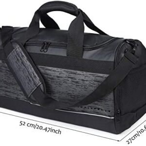 20'' Sports Duffel Bag with Shoe Compartment for Men Women Durable Gym Bag with Bottle Holder, Unisex, 40L