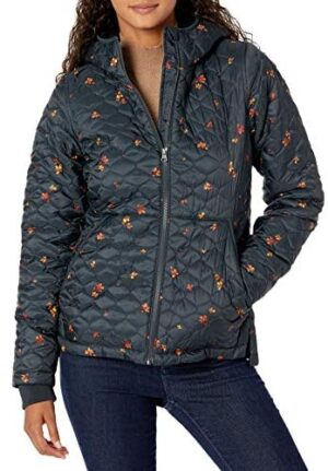 Amazon Essentials Women's Lightweight Water Resistant Long Sleeve Sherpa Lined Puffer Jacket with Hood