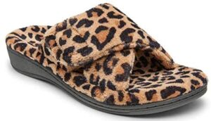 Vionic Women's Indulge Relax Slipper - Ladies Comfortable Cozy Adjustable House Slippers that include Three-Zone Comfort with Orthotic Insole Arch Support, Soft House Shoes for Ladies