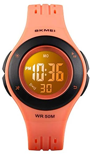 YxiYxi Kids Watch Digital Waterproof for Girls Boys Toddler Cute Sport Outdoor Multifunctional Watches with Luminous Alarm Stopwatch 7 Colorful LED Wrist Watch for 5-10 Year Little Child
