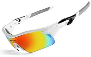 JOGVELO Polarised Sunglasses for Men, Sports Sunglasses Mens and Womens UV400 Protection for Cycling Ski Running Driving