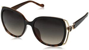 Jessica Simpson Women's J5686 Vented Square Sunglasses with Iconic JS Enamel Logo Temple & 100% UV Protection, 60 mm