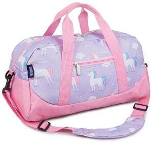 Wildkin Kids Overnighter Duffel Bags for Boys & Girls, Measures 18 x 9 x 9 Inches Duffel Bag for Kids, Carry-On Size & Ideal for School Practice or Overnight Travel, BPA-free (Unicorn)