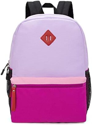 Hawlander Little Kids Backpack for Girls Toddler School Bag, Ages 3 to 6 years old, Small, Purple