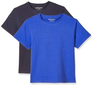 Kid Nation Kids T Shirts 2 Packs or 3 Packs Soft Cotton Crew Neck Tee for Boys or Girls 4-12 Years