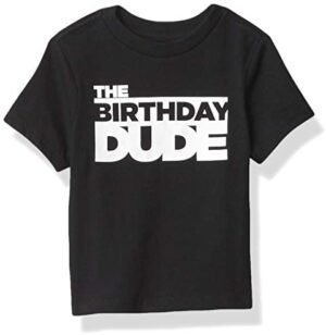 The Children's Place Boys' Baby and Toddler Birthday Dude Graphic Tee