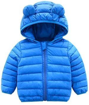 CECORC Winter Coats for Kids with Hoods (Padded) Light Puffer Jacket for Baby Boys Girls, Infants, Toddlers…